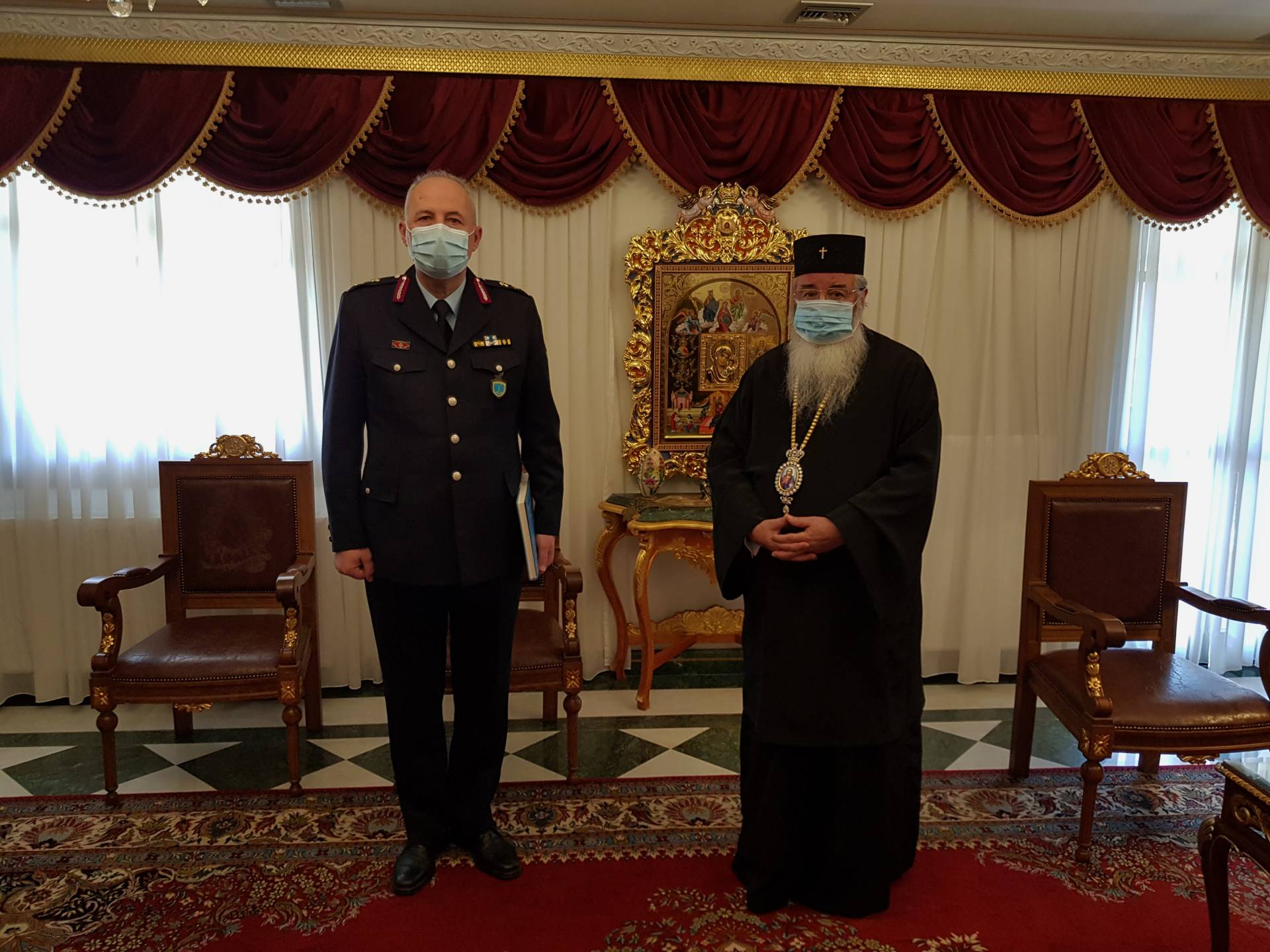 Εθιμοτυπική επίσκεψη του Γενικού Περιφερειακού ΑστυνομικούΔιευθυντή Δυτικής Μακεδονίας στο Μητροπολίτη Σερβίων και Κοζάνης