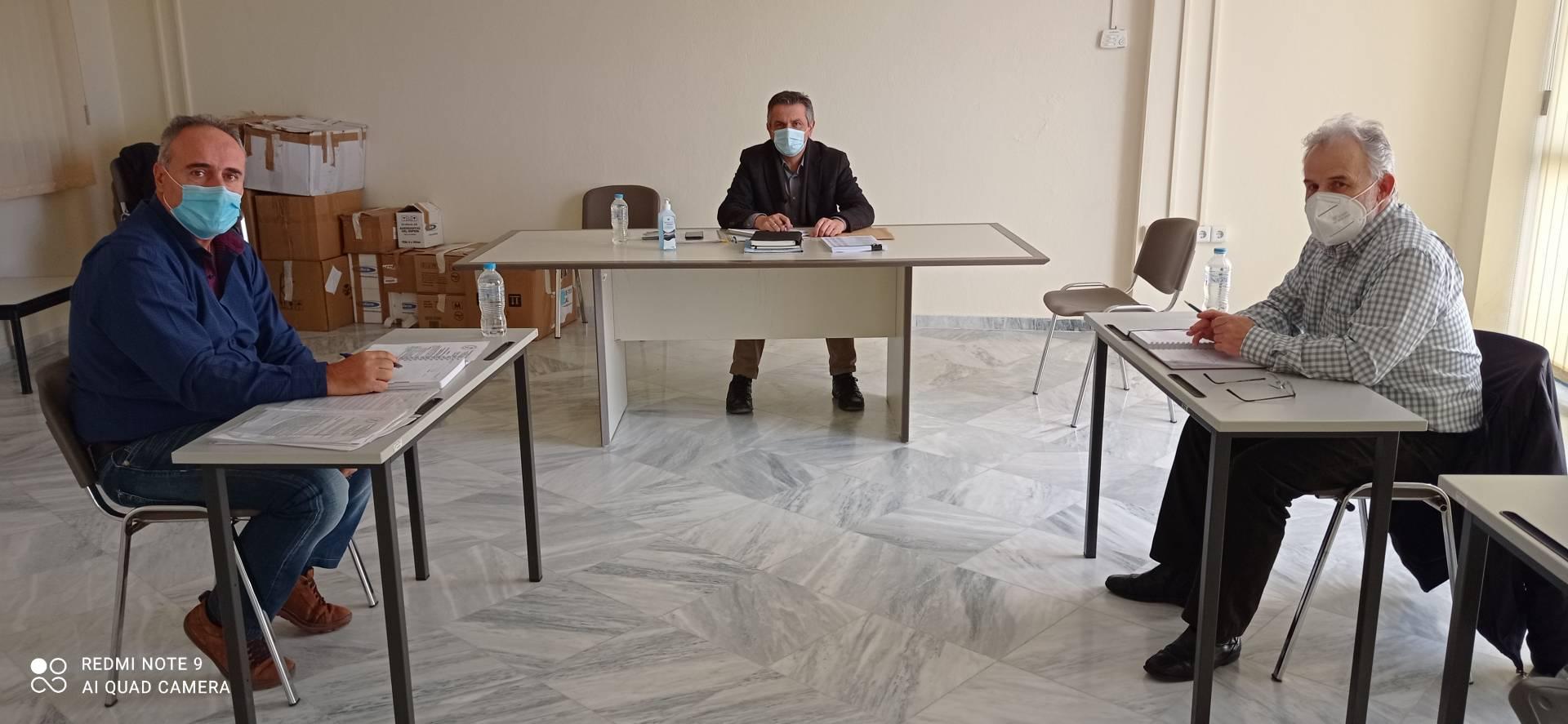 Ενημερωτική συνάντηση του Εργατικό Κέντρο Νομού Κοζάνης με τον Περιφερειάρχη Γ. Κασαπίδη