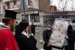 Η υποδοχή της Παναγίας Ελεούσας από τον Σιατίστης Αθανάσιο (Φωτογραφίες)