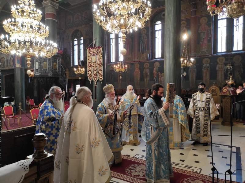 Ο εορτασμός του Ευαγγελισμού της Θεοτόκου και της ενάρξεως της Ελληνικής Επαναστάσεως στον Ι. Μητροπολιτικό Ναό των Γρεβενών