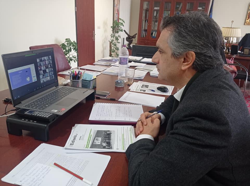 Διαδικτυακή συνάντηση της φοιτητικής ομάδας Αεροδιαστημικής ASPiRE με τον Περιφερειάρχη Δυτικής Μακεδονίας κ. Γεώργιο Κασαπίδη