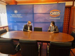 Συνάντηση του βουλευτή Καστοριάς της Ν.Δ. κ.Ζήση Τζηκαλάγια με τον Διοικητή του ΟΑΕΔ κ.Σπύρο Πρωτοψάλτη