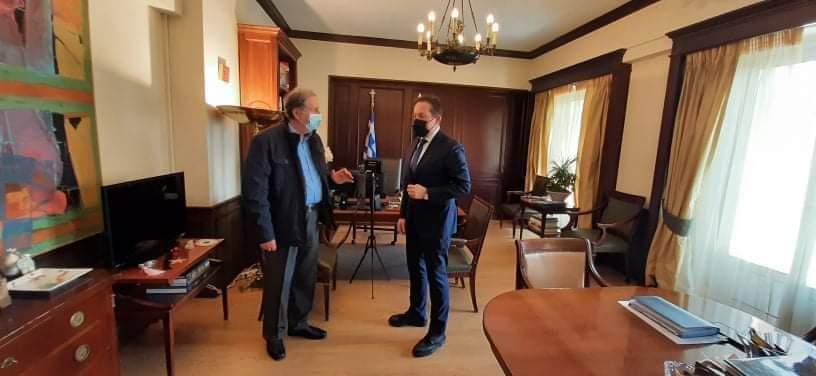 Σύσκεψη του Δημάρχου Νεστορίου Χρήστου Γκοσλιόπουλου με τον Αναπληρωτή Υπουργό Εσωτερικών