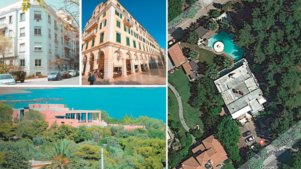 Real estate για πλουσίους – Στο «σφυρί» εμβληματικά ακίνητα των Φώλια, Γκερέκου, Γουλανδρή και η βίλα Σφηνιά