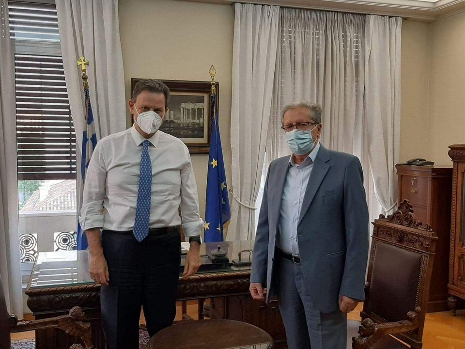 Συνάντηση του Δημάρχου Νεστορίου με τον αναπληρωτή Υπουργό Οικονομικών για το φράγμα – αρδευτικό Διποταμίας