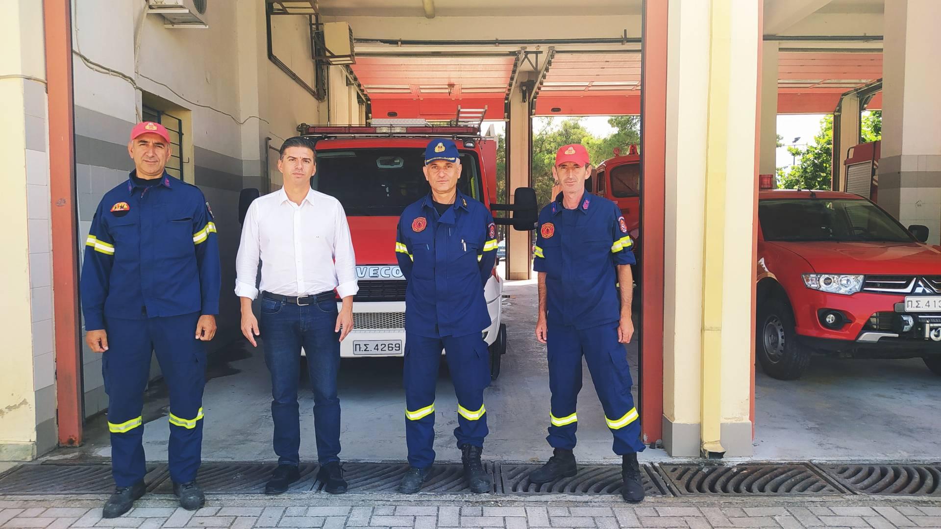 Συγχαρητήρια από τον Θανάση Παιδή στην Πυροσβεστική Υπηρεσία Ελασσόνας