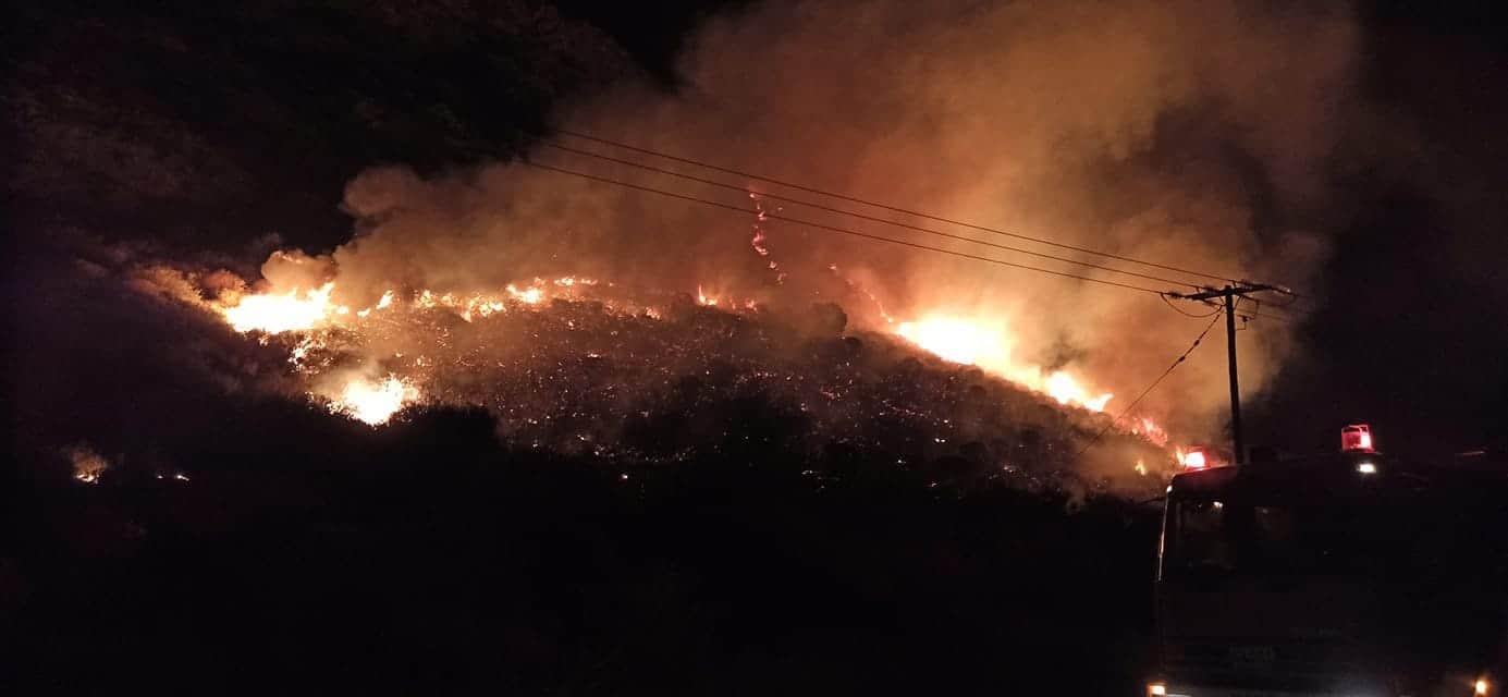Δύο πυρκαγιές το βράδυ της Τετάρτης σε Ιτέα και Ποντινή. Από βραχυκύκλωμα της ΔΕΗ και από κεραυνό