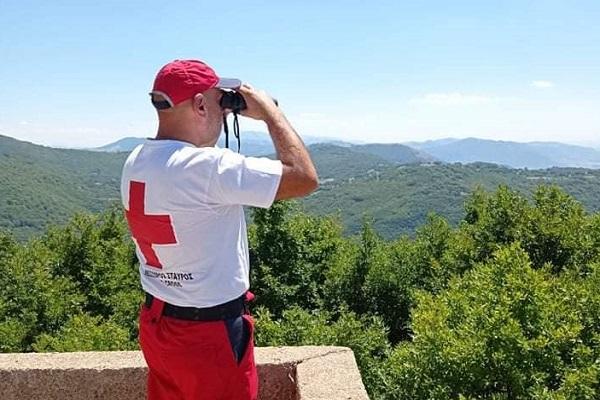 Εθελοντική πυρασφάλεια από τον Ερυθρό Σταυρό Καστοριάς