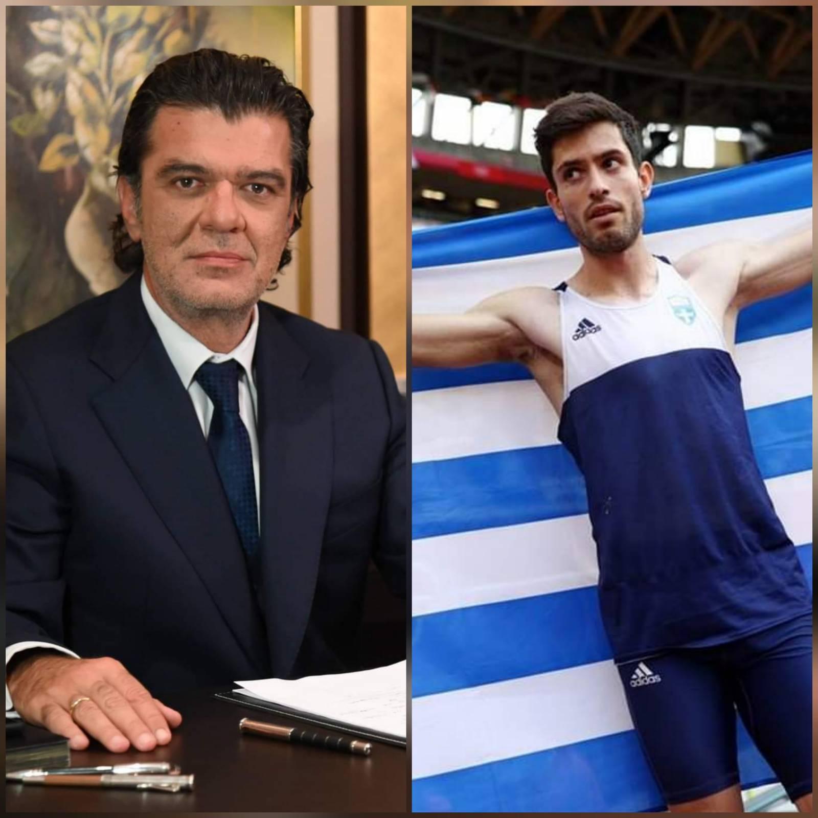 Συγχαρητήρια του Γρεβενιώτη Βουλευτή Α. Πάτση στον «χρυσό» Ολυμπιονίκη Μίλτο Τεντόγλου