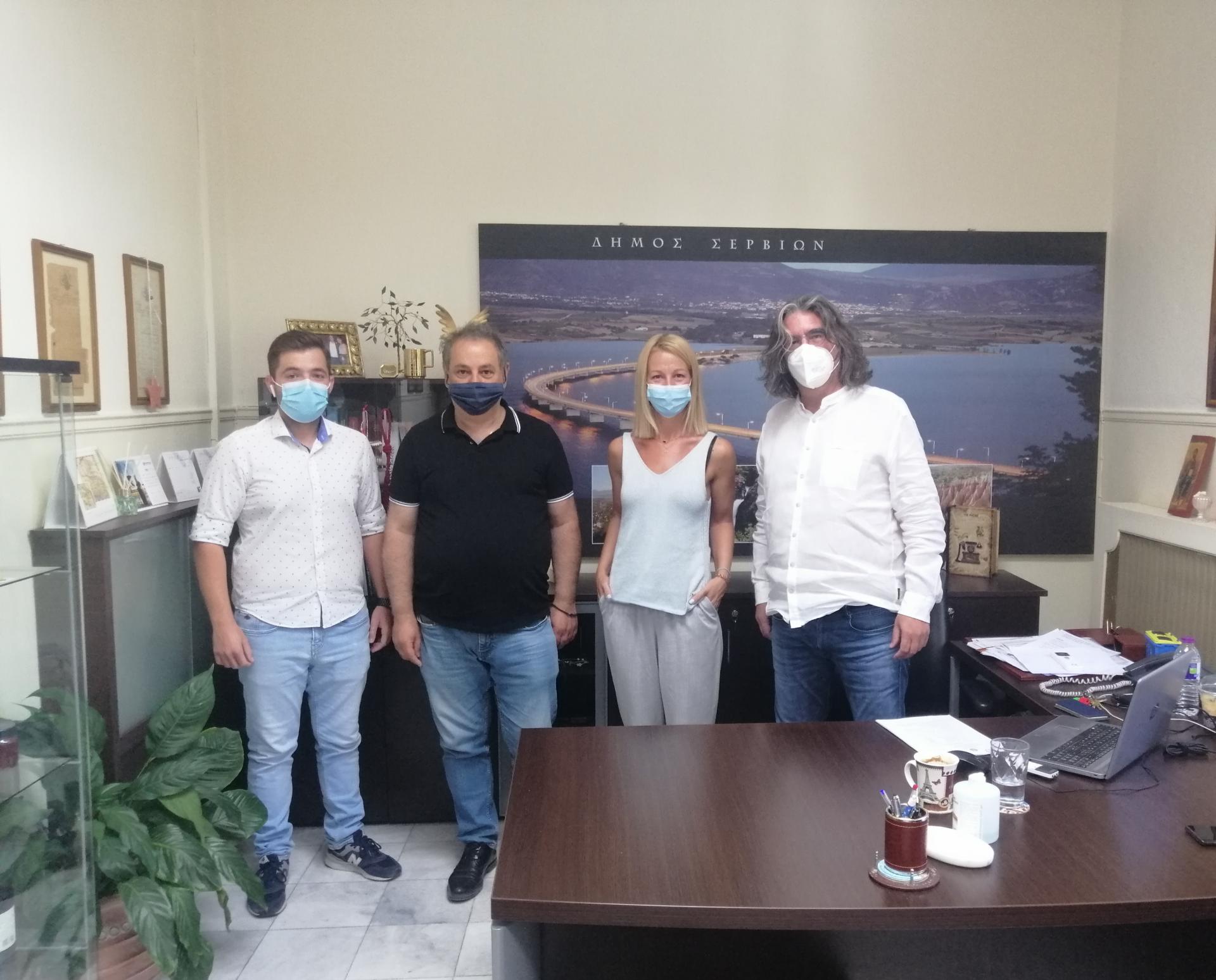 Συνάντηση του Προέδρου του ΤΕΕ/ΤΔΜ με τον Δήμαρχο Σερβίων