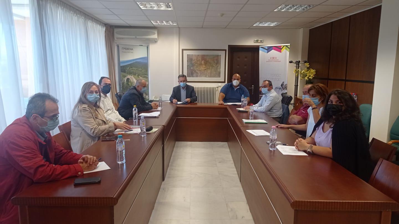 Σύσκεψη παρουσίατου Περιφερειάρχη Δυτικής Μακεδονίας Γιώργου Κασαπίδη στην Π.Ε. Γρεβενών